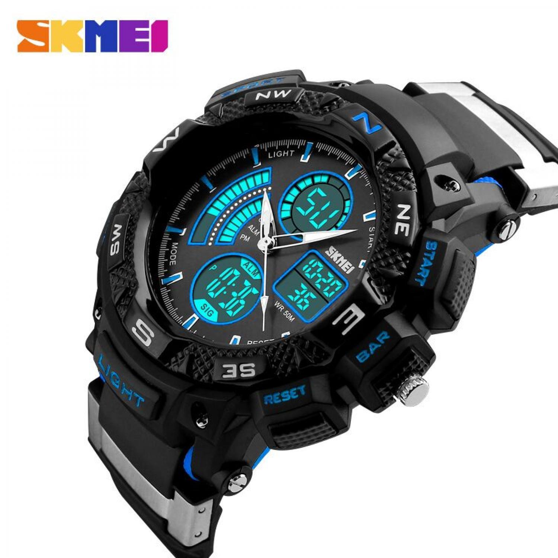 Skmei Casio Men Sport Led Watch Water Resistant 50m Ad1109 Black Red Jam Tangan Digital Analog Ad1016 Pria Ad1211
