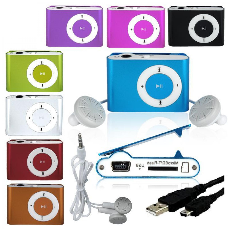 Pod MP3 Player TF card dengan Klip