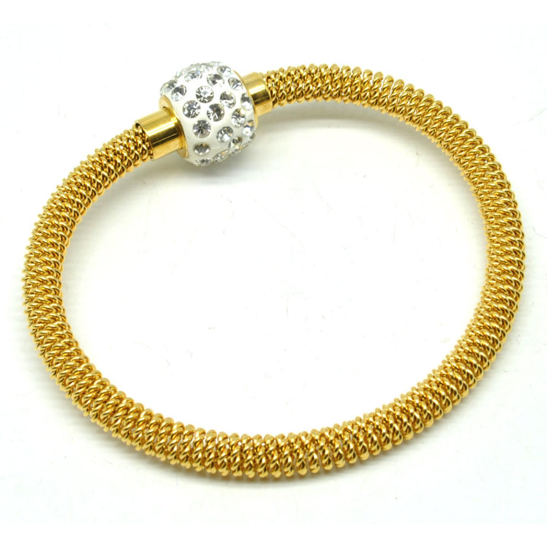 Gelang Bangles Wanita 18K Gold Plated Metal Chain Bracelet