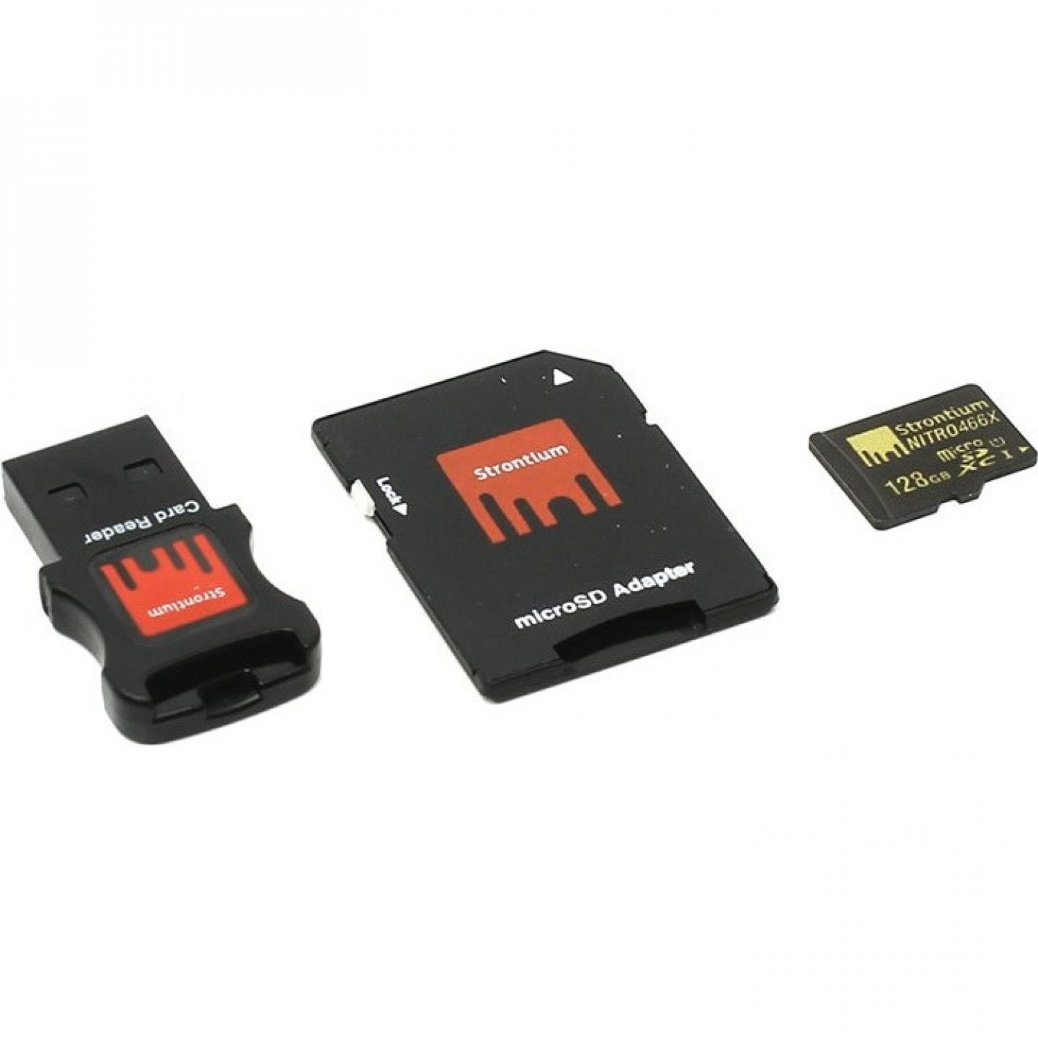 Strontium Nitro 466X MicroSDHC/XC Class 10 with Adapter & Card Reader