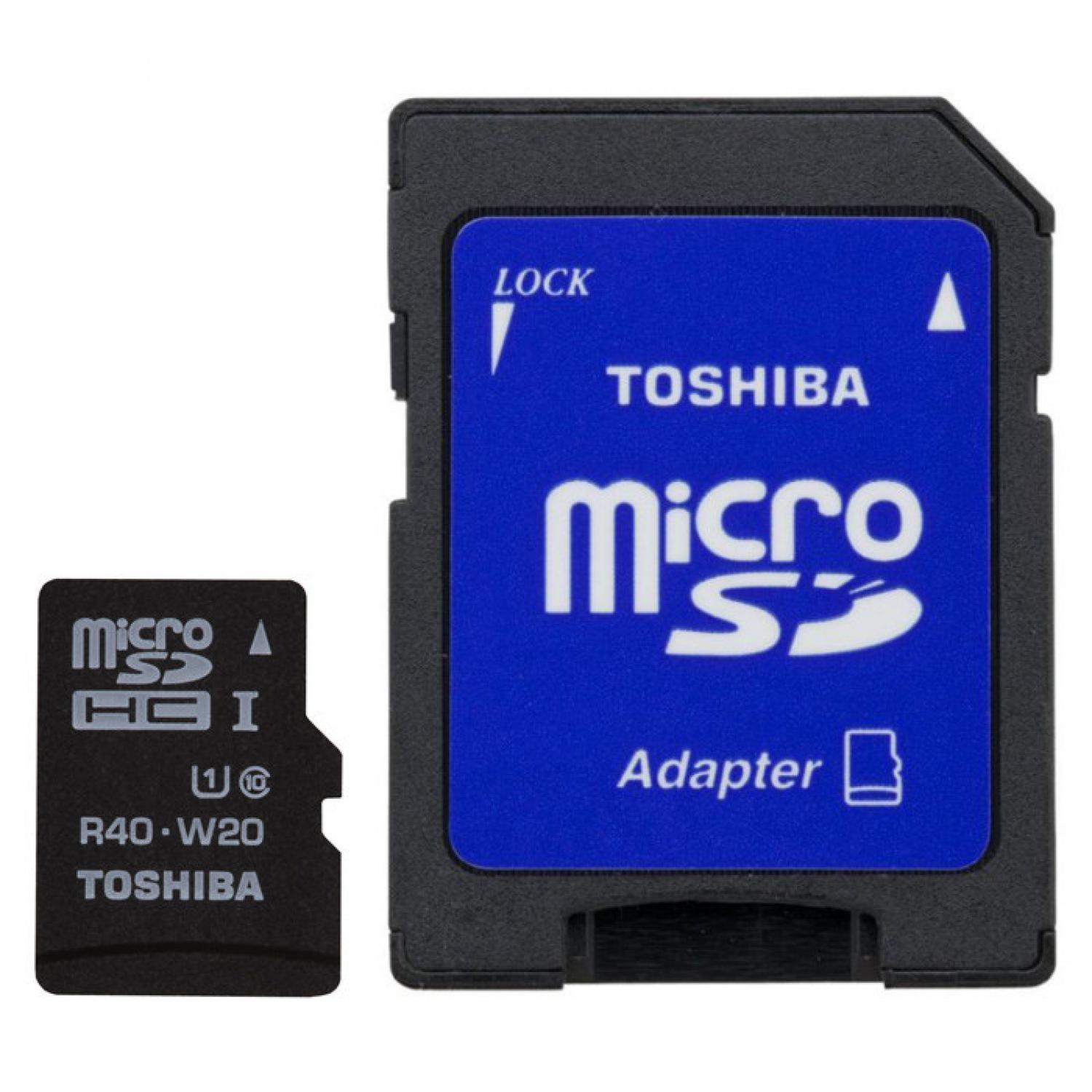 Toshiba MicroSDHC UHS-I Class 10 30MB/s 32GB withSD Card Adapter