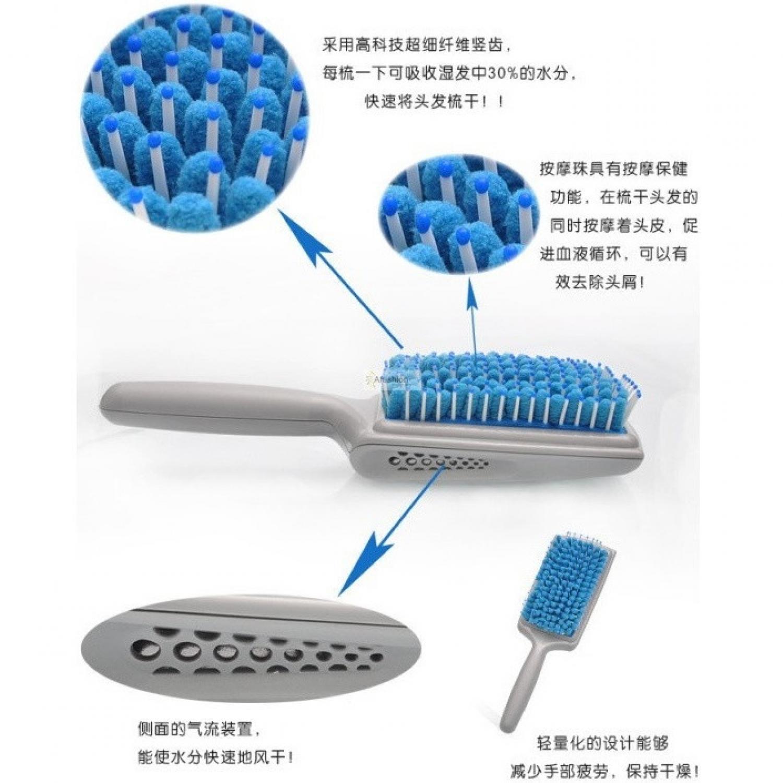 Magic Microfiber Drying Comb / Sisir Pengering Rambut