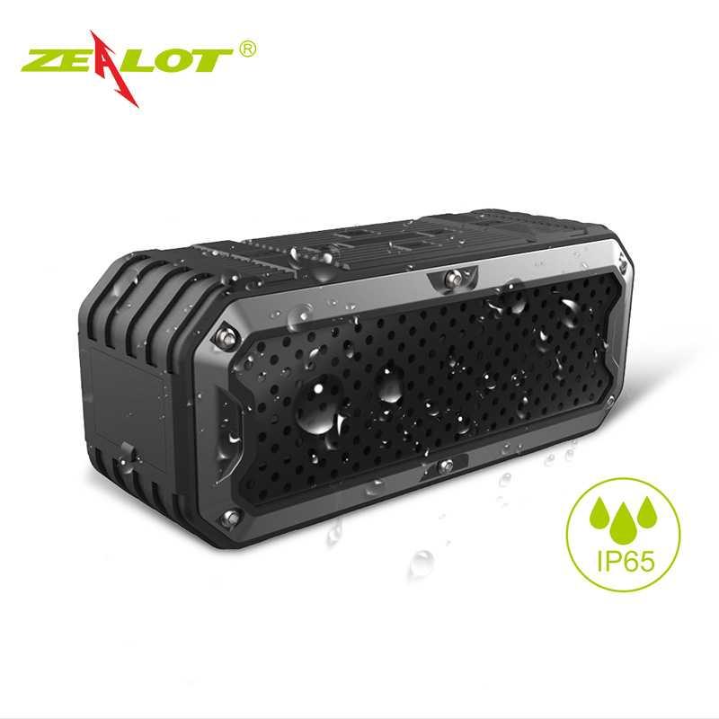ZEALOT Bluetooth Speaker Waterproof Power Bank 5200mAh - S6