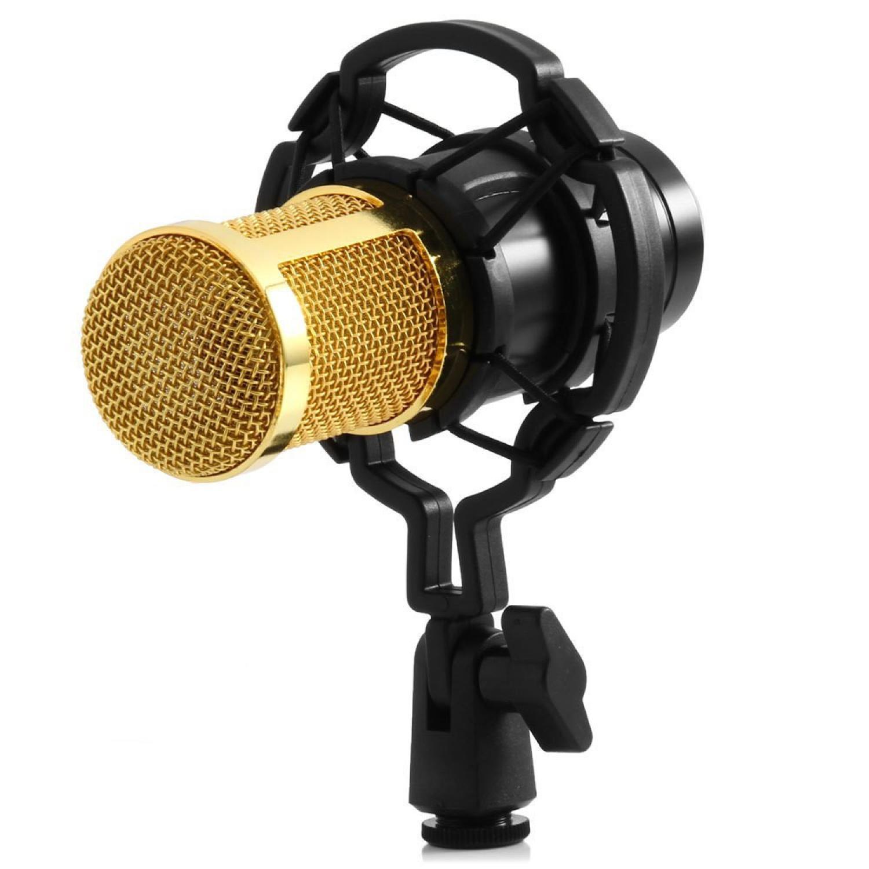 Taffware Mikrofon Kondenser Studio dengan Shock Proof Mount - BM800