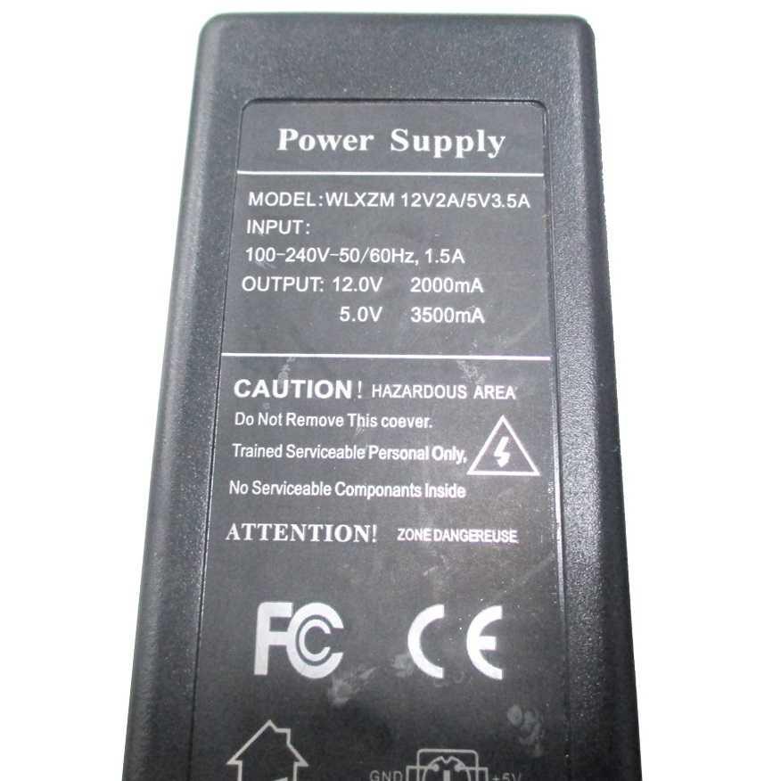 Adaptor for 6 Pin Power Supply AC DC 12V 2A / 5V 2A