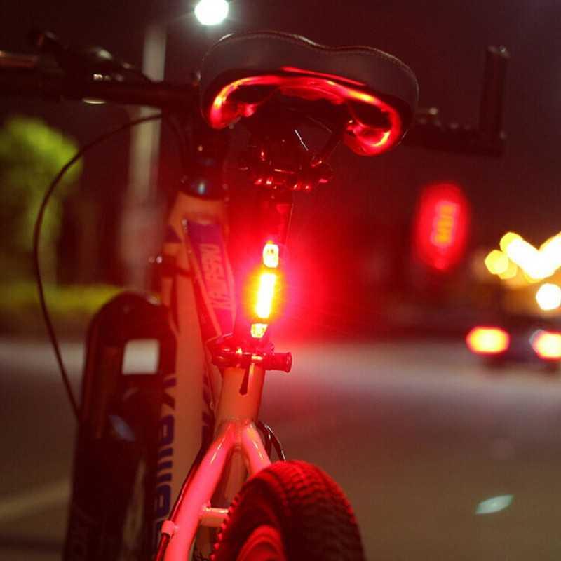 Lampu Sepeda 5 LED Bisa Di Cas / Rechargeable