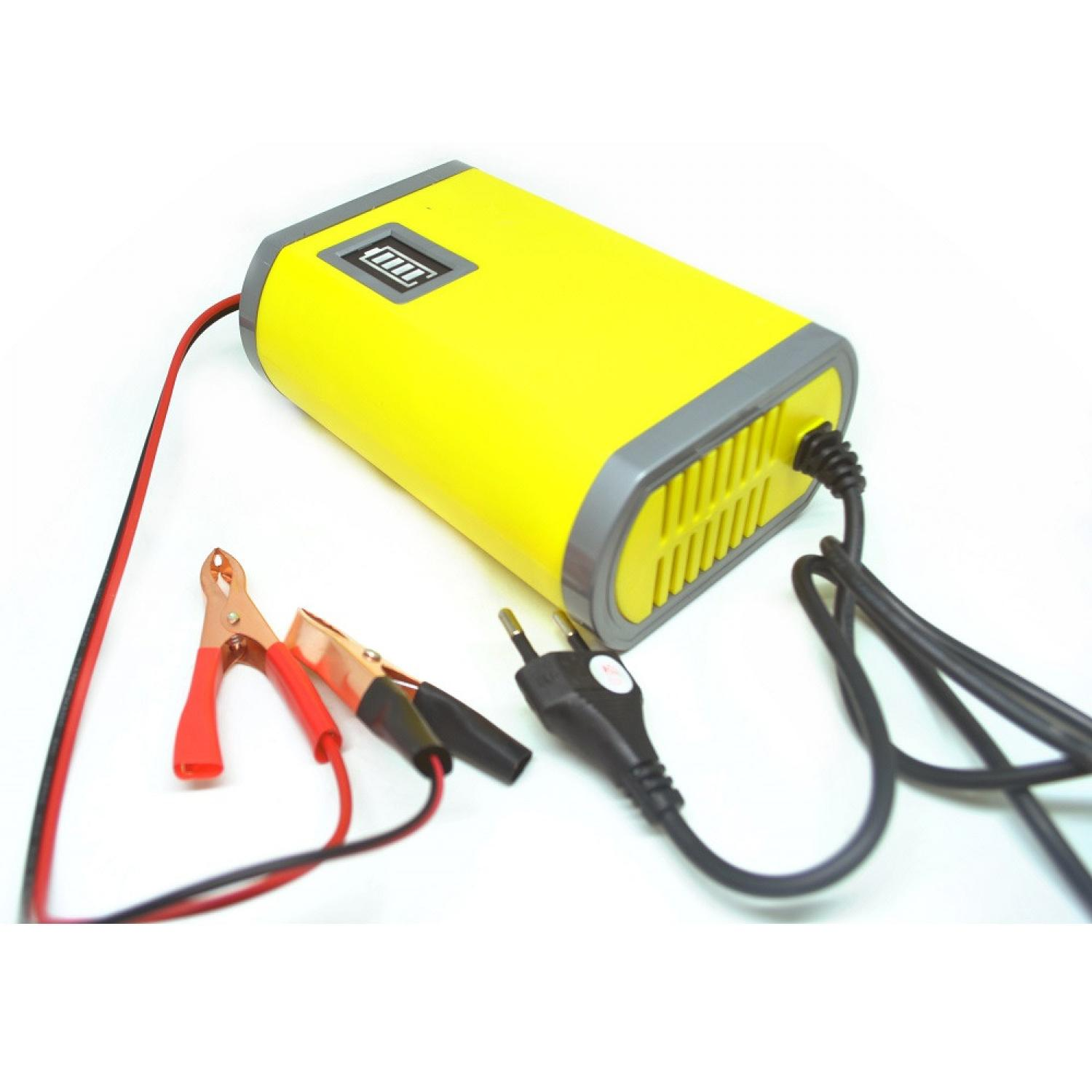 Portable Motorcycle Car Battery Charger 6A/12V