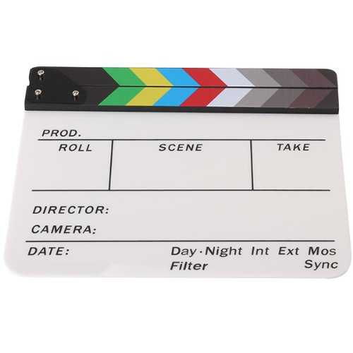 Profesional Clapper Board Colorful Acrylic