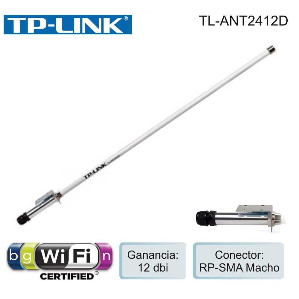 TP-LINK Outdoor Omni-directional Antenna 2.4GHz 12dBi - TL-ANT2412D