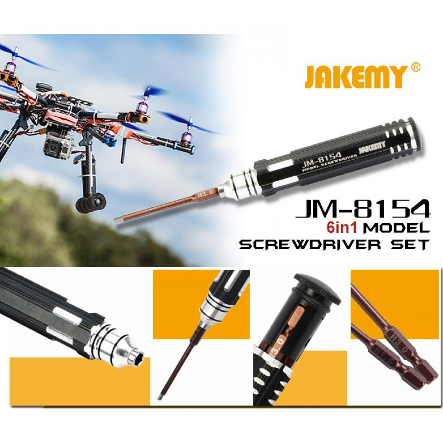 Jakemy 6 in 1 Screwdriver Kit Model - JM-8154