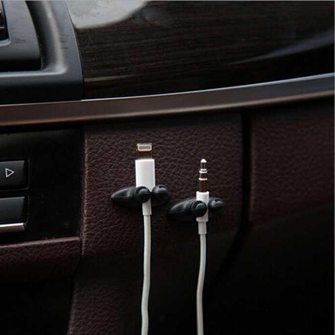 Manajemen Kabel USB Earphone Clips