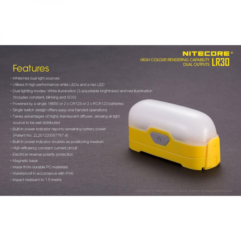 NITECORE Lampu Gantung LED LR30 205 Lumens