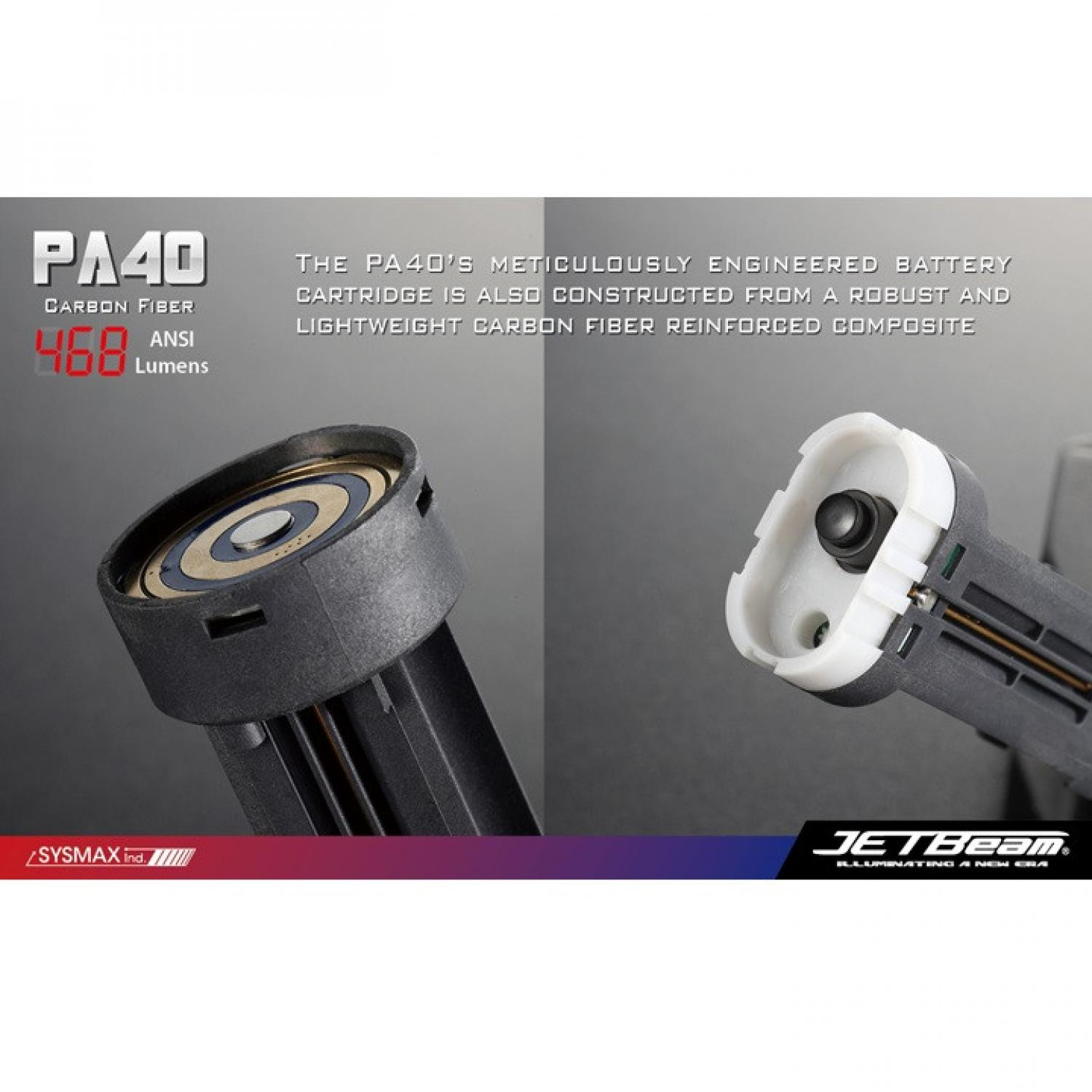JETBeam PA40 Senter LED CREE XM-L 468 Lumens