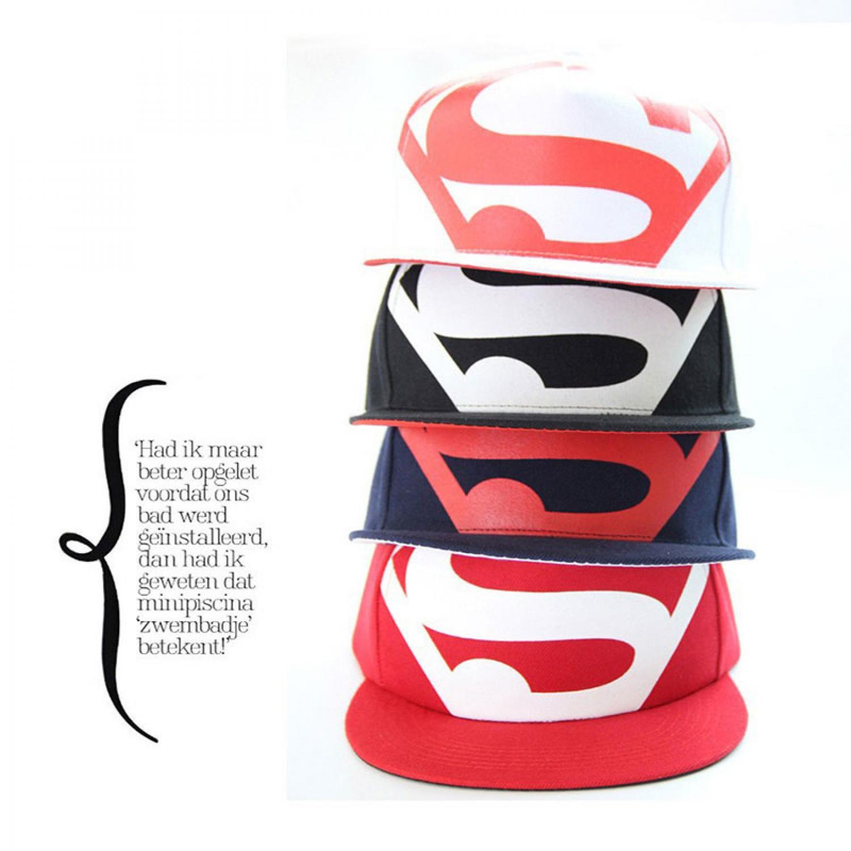 Topi Superman Hip Hop Snapback Caps Hats Unisex