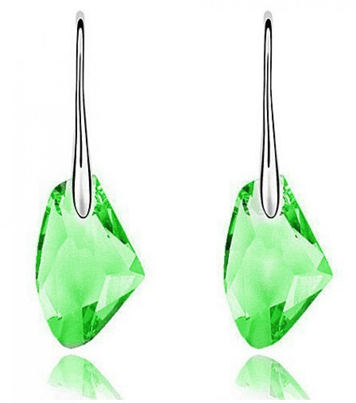 Swan Crystal Earrings Drop Diamond 925 Sterling Silver / Anting Wanita