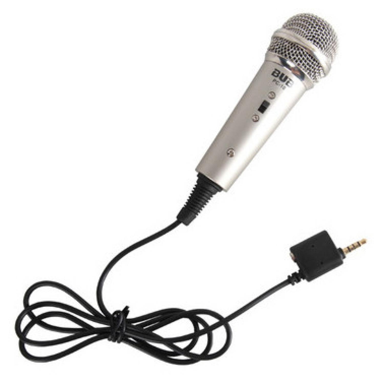 Mikrofon Kondenser Dua Input 3.5mm untuk Smartphone PC