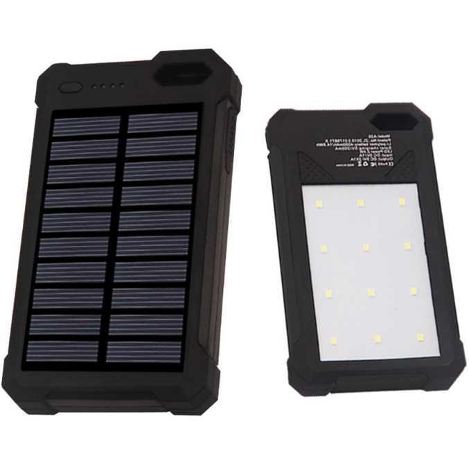Sinofer Power Bank 2 USB 12000mAh with Solar Panel