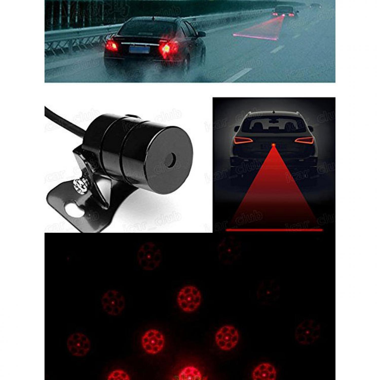 Car Universal Aluminium Rear Laser Fog Light Taillight - Model Bola