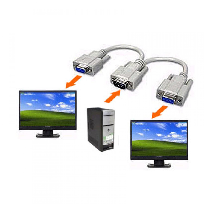 VGA Y Cable percabangan VGA menjadi 2 VGA Model CB2584