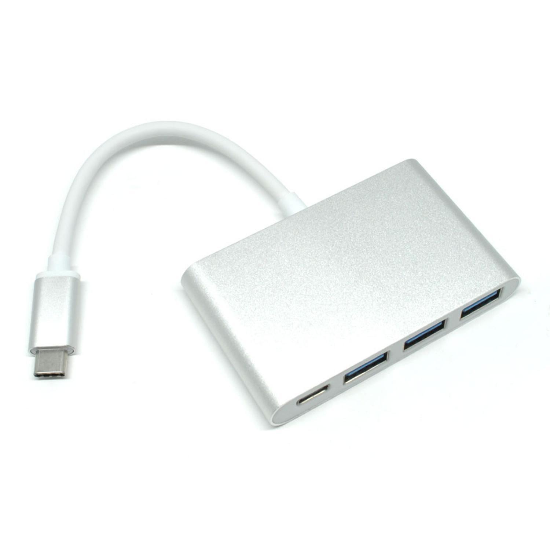 USB Type C to 3 x USB 3.0 + 1 x USB Type C Hub Adapter