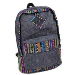 Tas Backpack Wanita Canvas Korea