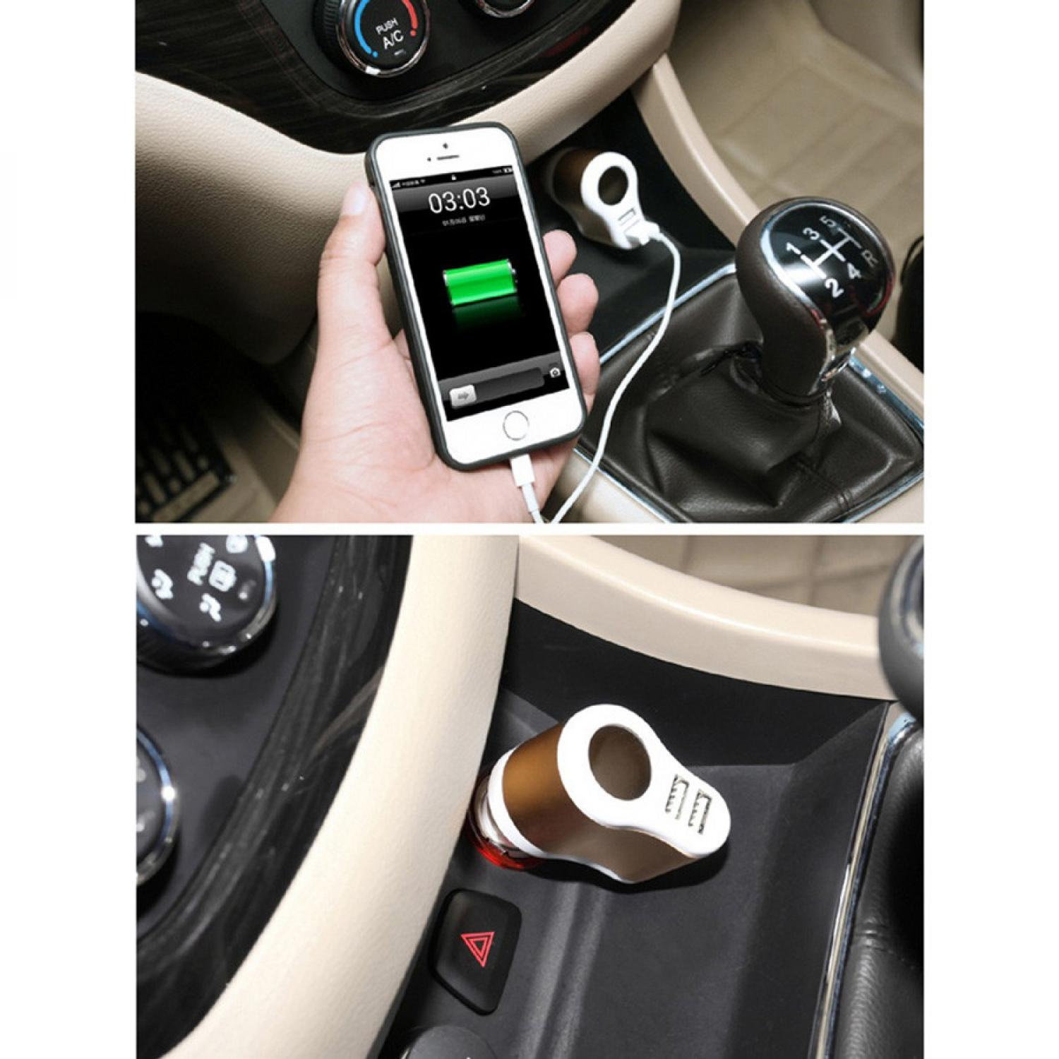 Hoco UC206 USB Car Charger 2 Ports 3.1A