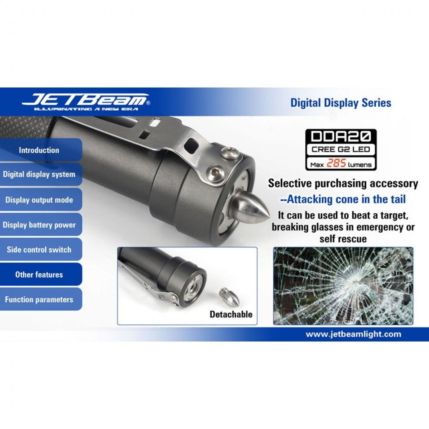 JETBeam DDA20 Senter LED CREE G2 285 Lumens