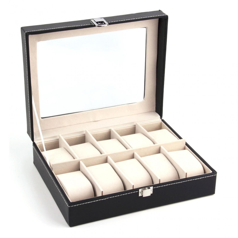 Kotak Jam Tangan Luxury 10 Slot