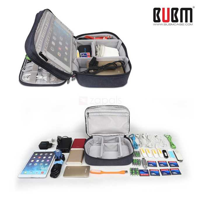 BUBM Tas Gadget Travel Organizer Double Layer - DPS