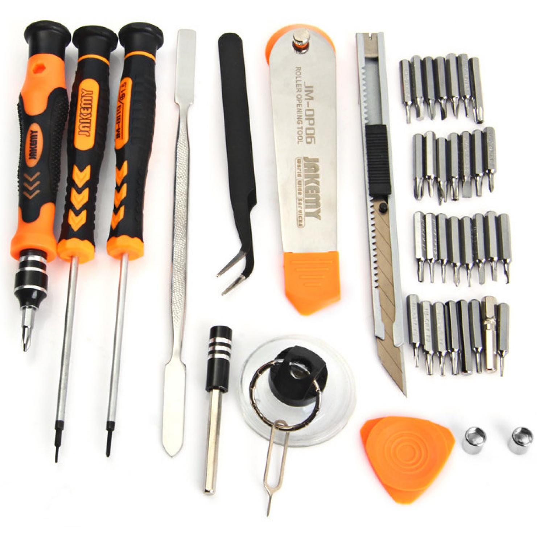 Obeng Set Teknisi HP, Komputer, Laptop Jakemy 45 in 1 Precision Screwdriver Repair Tool Kit