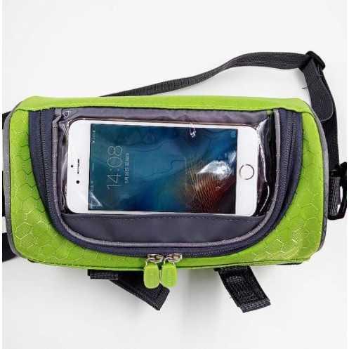 Tas Sepeda Front Frame dengan Smartphone Pocket