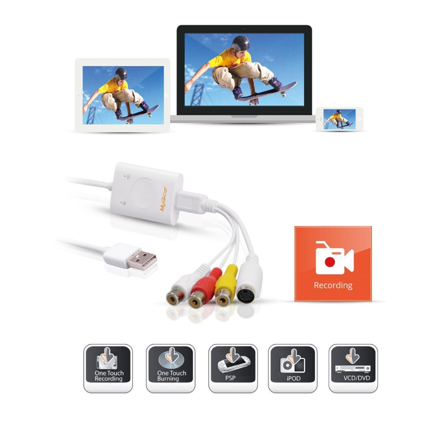 MyGica iGrabber Nano USB Video Capture for Mac & PC