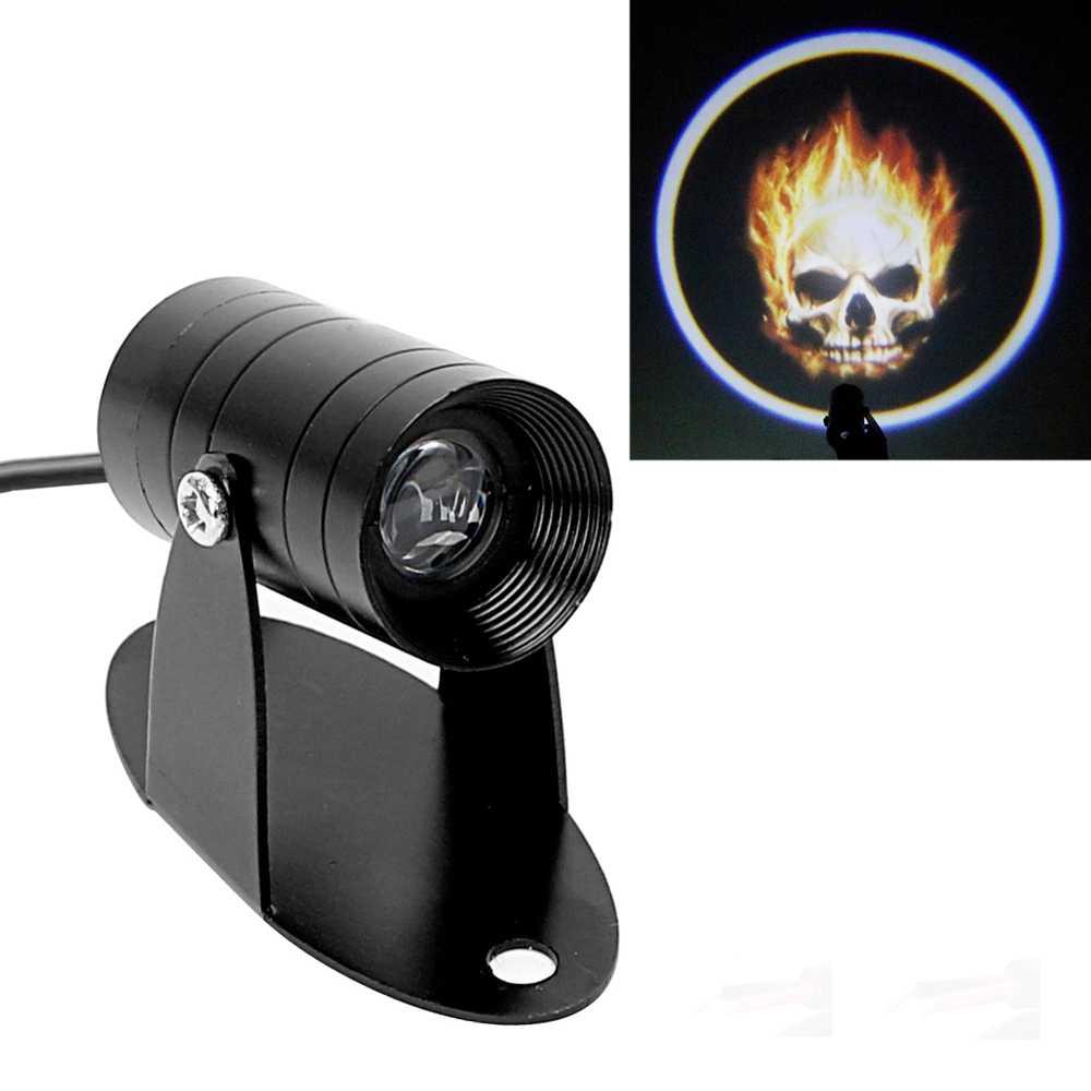 Lampu Belakang Motor 3D LED Projector Ghost Rider
