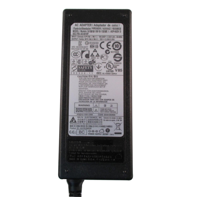 Adaptor Samsung 19V 3.16A Small Plug