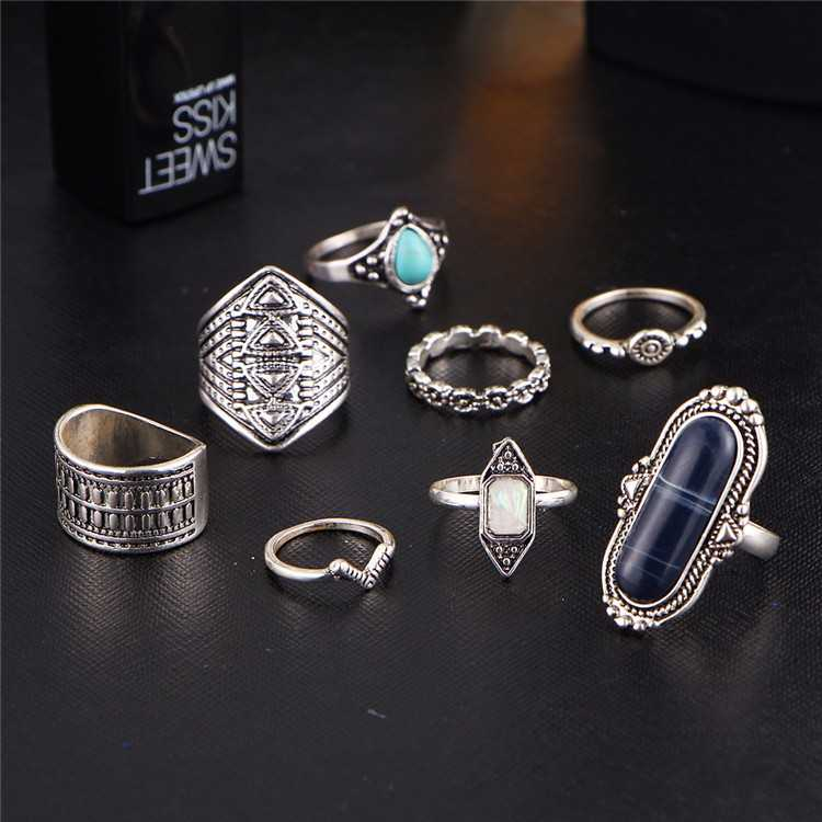 Cincin Midi Ring Tibetian Vintage 8 Set