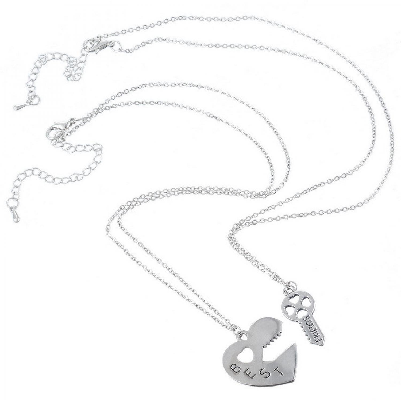 Kalung Pasangan Bentuk Hati dan Kunci / Couple Necklace