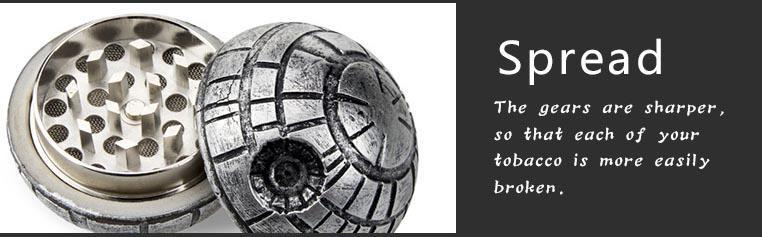 Penggiling Grinder Tembakau Model Bola Planet