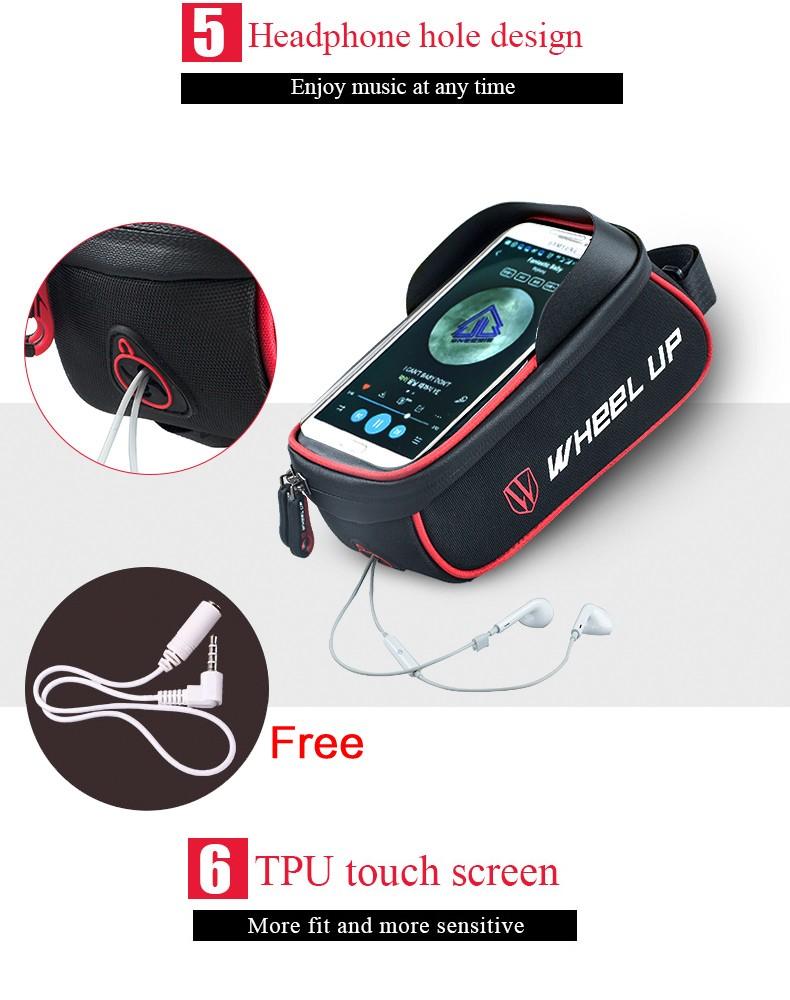 Jual Wheel Up Tas Sepeda Waterproof Smartphone 6 Inch Anda Dapat Dengan Mudah Mengeluarkan Earphone Dan Kabel Lainnya Dari Lubang Ini Tidak Perlu Repot Lagi Mendengar Musik Menggunakan Sambil