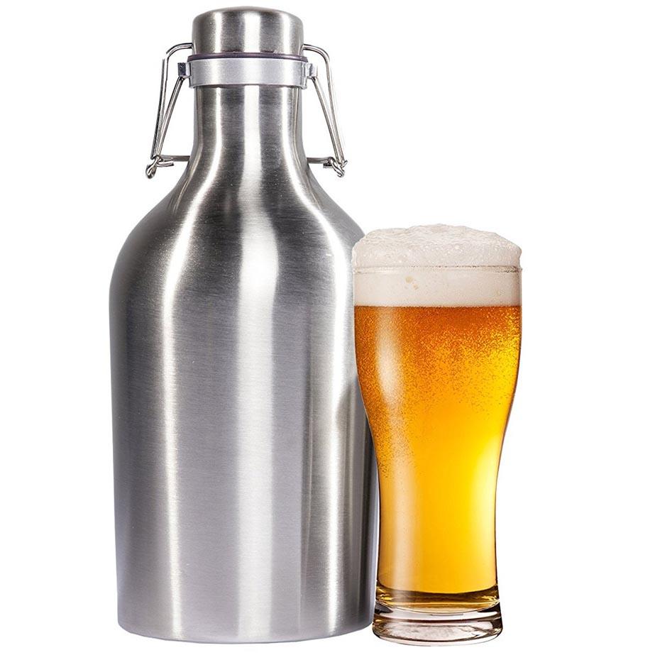 Jual Botol Minum Bir Stainless Steel Beer Hip Flask 64oz Unik Ini Terbuat Dari Bahan Material Berkualitas Yang Menjamin Keamanan Zat Berbahaya Akibat Daur Ulang